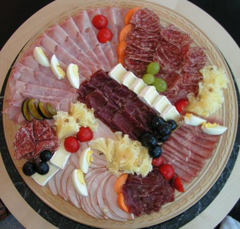 Fleisch und Käse - Platte